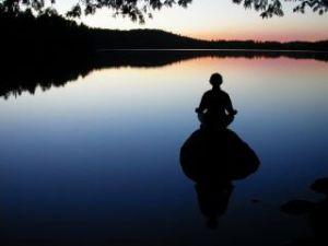 meditation-on-lake
