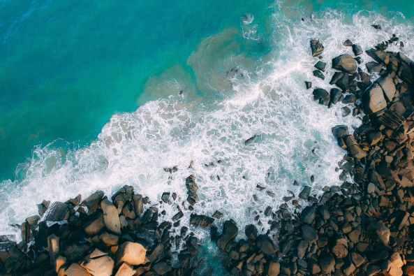 ocean wave seashore